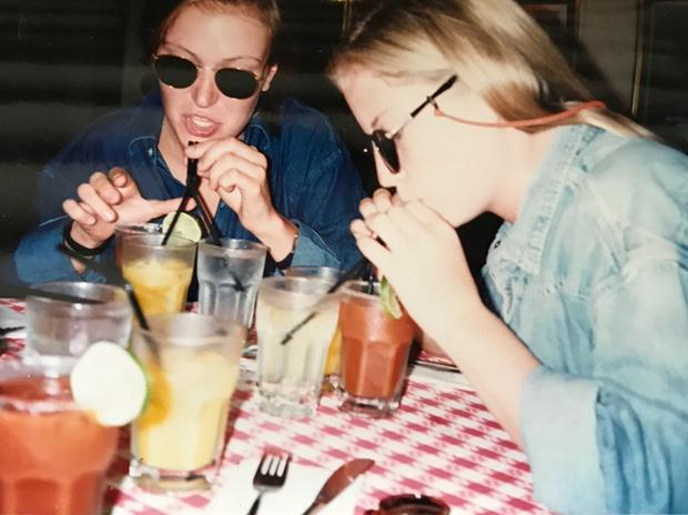 Emma (right) and Rachel travelled around Asia with their pal Tiffany