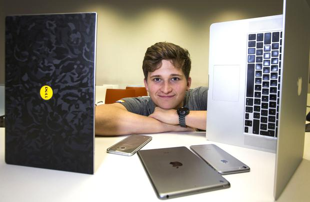 DIT student Mati Remi is giving up social media for Lent this year. Photo: Colin O'Riordan