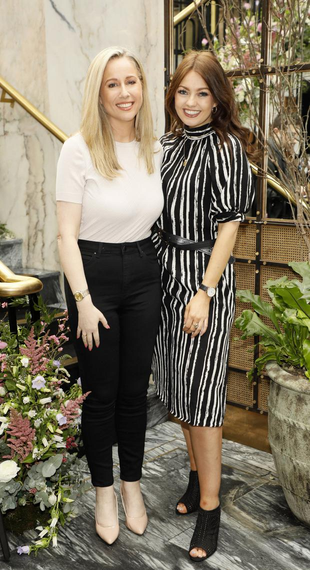 Frances Deasy, M&S's head of marketing and sales pictured with Stephanie Whisker wearing M&S stripes. Photo: Kieran Harnett