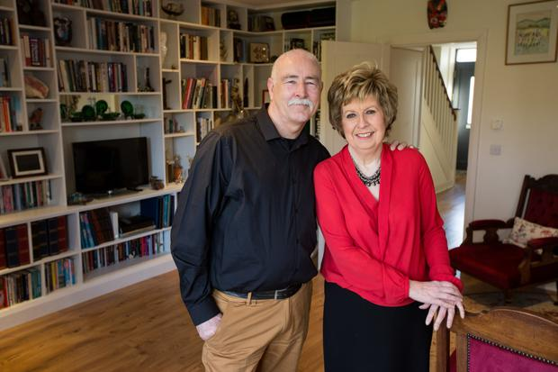 Healthy option: Tony and Ellen Gunning, who have downsized to a new home in Co Wicklow. Picture by Mark Condren