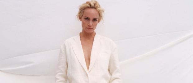 Amber Valletta for a Zara campaign
