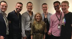 Leo Varadkar pictured with Kylie Minogue in Dublin last year