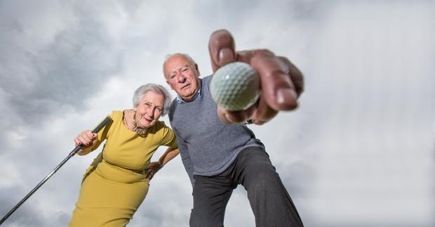 On the ball: Mai and Frank Quaid, both avid golfers, had to work through an adjustment period after retirement. Photo: Mark Condren