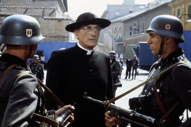 On screen: Gregory Peck as O'Flaherty in 1983 film The Scarlet and the Black