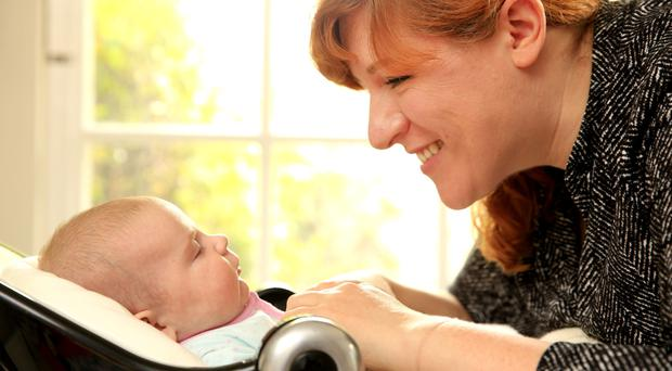 Baby love: Tanya Sweeney with her 10-week-old daughter, Isola. Picture: Gerry Mooney