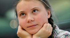 Greta Thunberg received a standing ovation after her speech in the House of Commons. Photo: Reuters