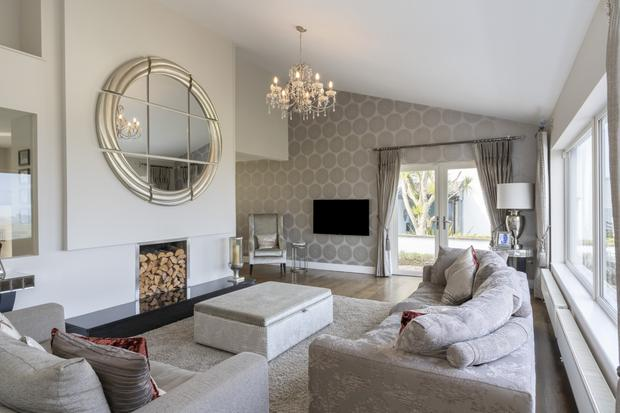The living room at Seawood, Howth, Co Dublin