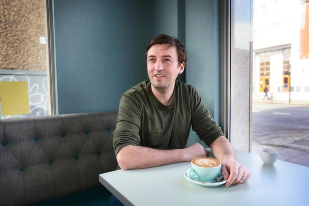 Colin Harmon relaxing at Gertrude Cafe in Dublin. Photo: Frank McGrath
