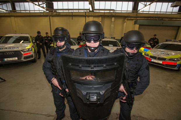 Training: members of the Armed Support Unit (ASU) at Garda headquarters. Photo by Mark Condren