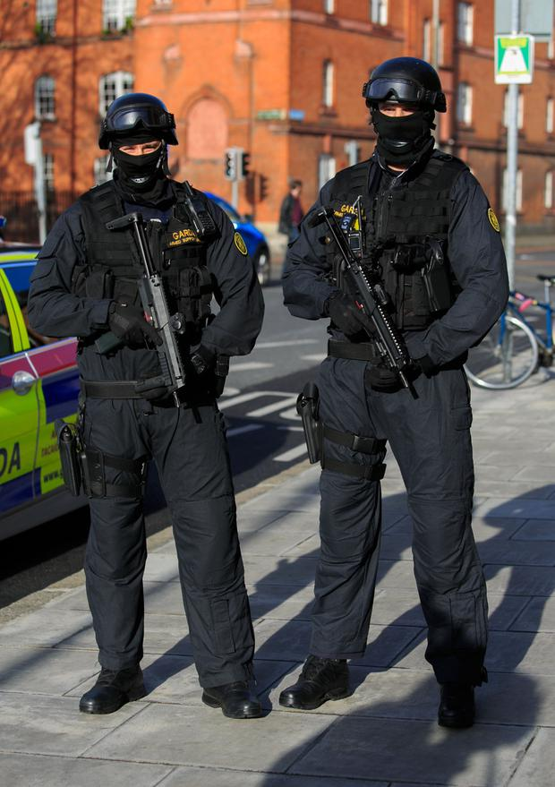 Support: There is widespread agreement that the Armed Support Unit is too thinly spread. Photo by Gareth Chaney
