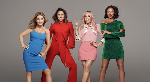 Spicing it up for 2019, are from left: Geri Horner, Melanie Chisholm, Emma Bunton and Melanie Brown