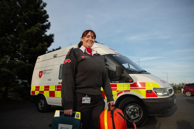 Duty calls: Gemma Guerin volunteers with the Order of Malta. Photo: Barry Cronin