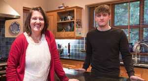 Arlene Harris with her son Tadhg, who is preparing to sit the Leaving Cert. Photo: Eamon Ward