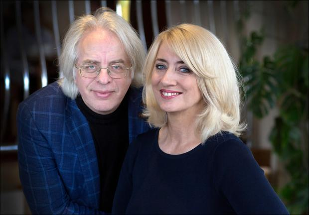 Musician Frank McNamara and his wife, barrister Theresa Lowe.