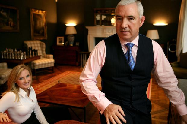 The lord of the manor: Sean Dunne with Gayle Killilea at their home in Ballsbridge. Photo: Derek Speirs