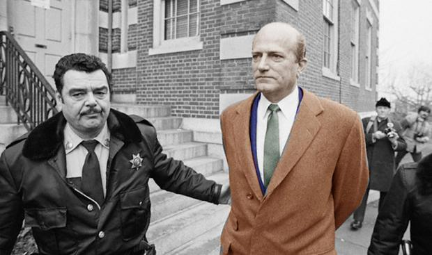Claus von Bulow is led into Newport Superior Court in March 1982, charged with the murder of his wife Sunny