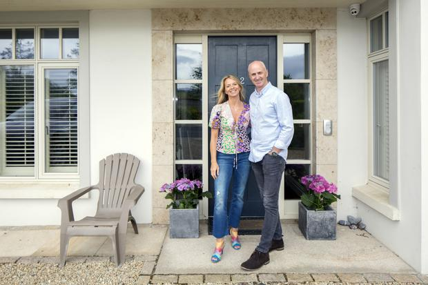 Lisa and Niall outside their double-fronted, detached, five-bedroom home in Rathmichael, which they bought a few years ago.