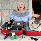 Expert packer: Bairbre Power with her luggage. Photo: Steve Humphreys