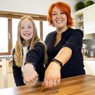 Fitbit fans Helen England and her daughter Maddie from Nenagh, Co Tipperary. Photo: Don Moloney