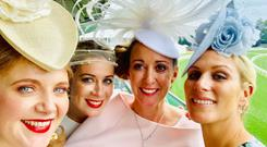 Senator Catherine Noone, Kelley Burke, pilot, Lady Chanelle McCoy and Zara Phillips