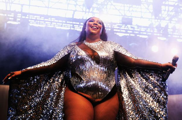 Lizzo appeared naked on the cover of her album Juice. Photo: Getty