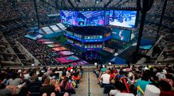 Play hard: Winner Kyle Giersdorf (16) won $3million at the Fortnite World Cup. Photo: Johannes Eisele/AFP/Getty Images