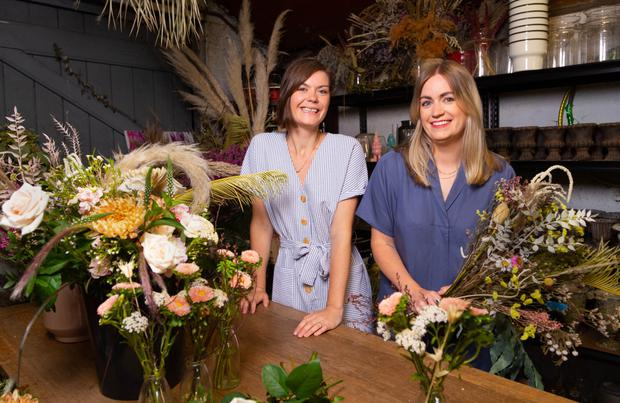 Claire Ryan and Steph Hutch, who run floristry business The Crate in Rathgar