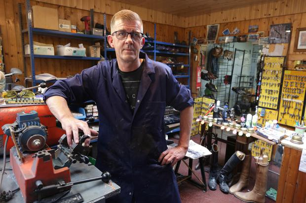 John Miley, of Currans Shoe Repair in Dublin. Photo: Damien Eagers
