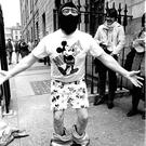 Taking the mickey: Martin Cahill outside a Dublin court in 1988