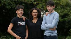 Siobhan Murray with her sons Charlie (left) and Sean. Photo: Damien Eagers/INM
