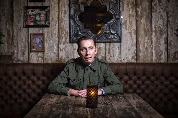 Christy Dignam pictured in Xico bar and restaurant on Baggot Street. Photo: Kip Carroll