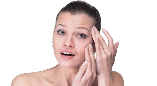 Face it: Daily stress can impact skin. Picture posed