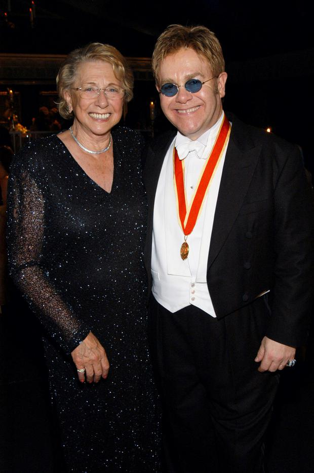 Elton John with his mother Sheila. His new memoir lays bare their difficult relationship. Photo: KMazur/WireImage