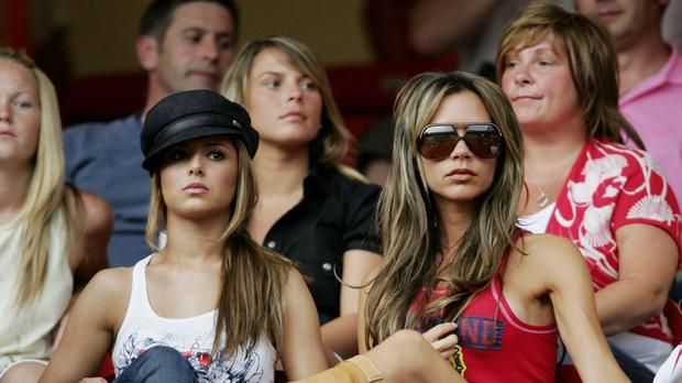 Cheryl, Coleen and Victoria in the crowd at an England game in Baden-Baden during the 2006 World Cup
