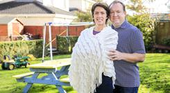 Foster parents: John O'Haire and Ruth Brennan at home in Johnstownbridge, Co Kildare. Photo: Gerry Mooney
