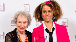 The write stuff: Joint Booker winners Margaret Atwood and Bernardine Evarist. Photo: Getty Images