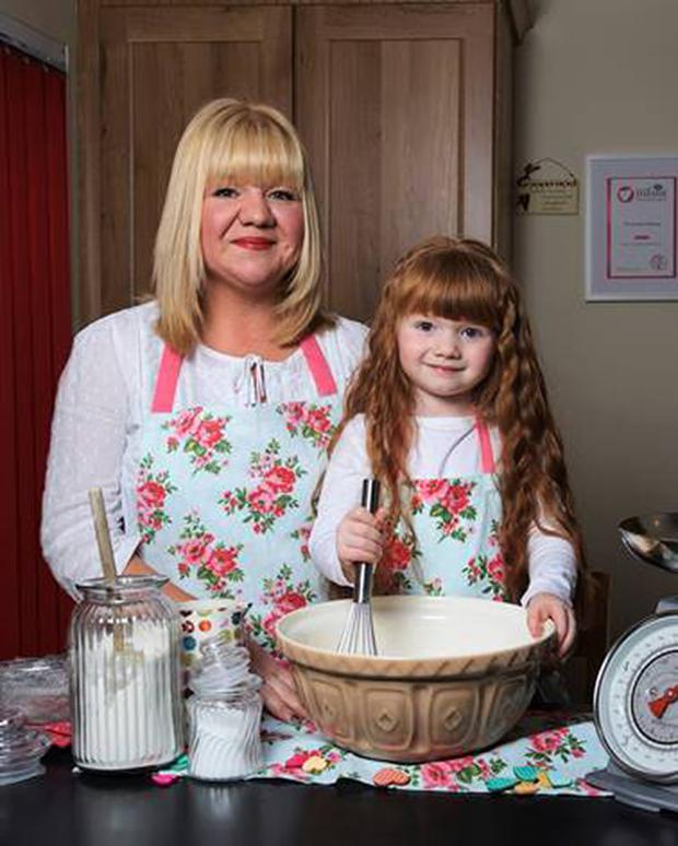 Jolene Cox and her daughter Lily-Mae make healthy home bakes