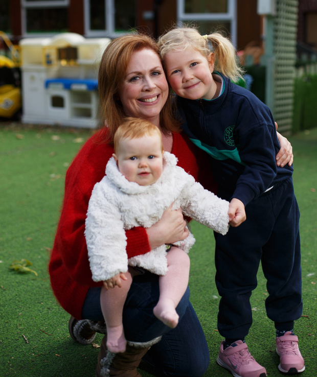 Mammy's girls: Yvonne Hogan with her daughters Ava and Eloise. Photo: Mark Condren