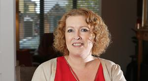Audrey Kane pictured at her home in Kildare (loss at this point 10kg). Picture: Damien Eagers
