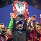 Juergen Klopp celebrates Liverpool's Champions League win