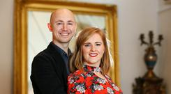 Actors Peter Daly and Lauren Larkin were married in December. Photo: Frank McGrath