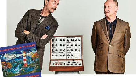 Paul Hartnoll of Orbital (right) and performance artist Murray Lachlan Young released 'The Virus Diaries'