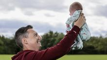 Daddy's girl: Kevin Doyle with his baby Zoey. Photo: Mark Condren