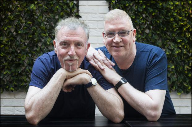 Paul and Joe Harrington both work in the music industry. Photo: David Conachy