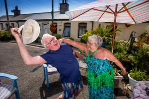 John and Catherine O'Rourke from Rialto in Dublin. John says it helps that he's a 'bit of a joker'. Photo: Mark Condren