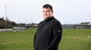 Acting out: John Connors near his home in Coolock. Photo: Frank McGrath
