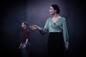 Aaron Monaghan and Siobhán Cullen in Druid's Once Upon a Bridge. Photo: Emilija Jefremova
