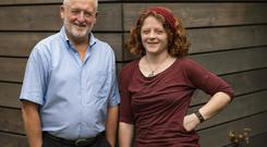 Laois solicitor Tom O'Grady with his playwright and actor daughter Emma. Photo: Doug O'Connor