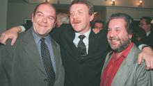 """At the opening night of """"A Streetcar Named Desire"""" at the Gate Theatre in 1998, Paul McGuinness, Michael Colgan and Paolo Tullio."""