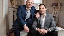 Perfect match: Gavin Duffy and Michael Ryan at a Georgian house in Dublin. Gavin did the house's stunning interior design. Photo: Tony Gavin